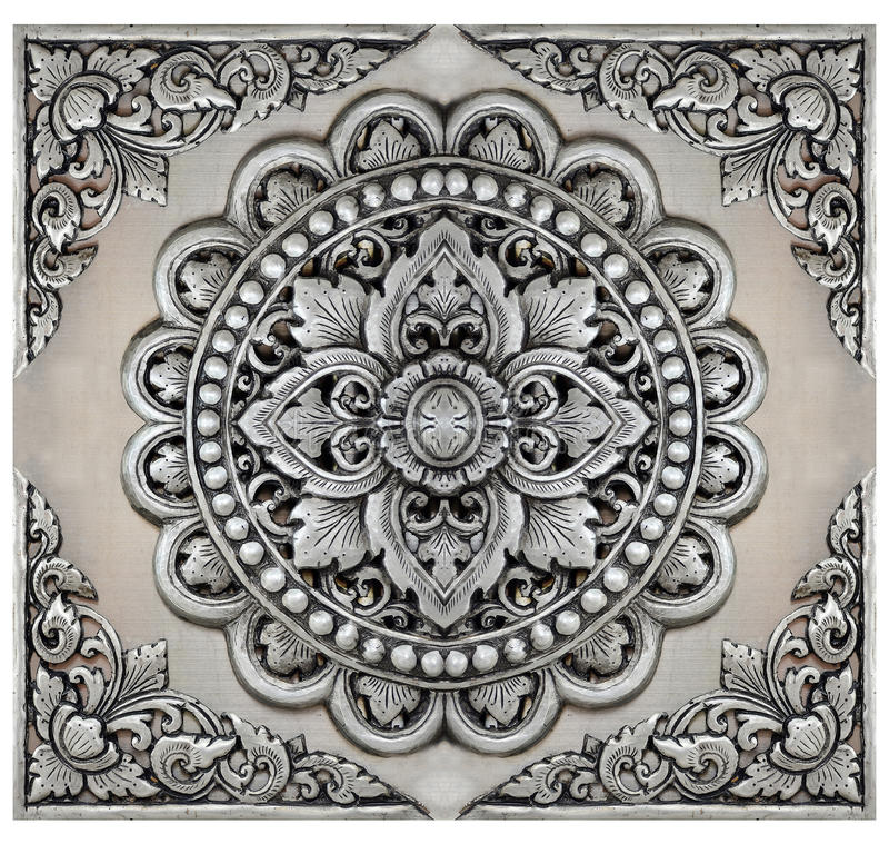 Ornament elements frame, vintage silver floral. Designs royalty free stock photography