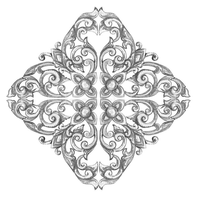 Ornament elements frame, vintage silver floral designs royalty free stock photos