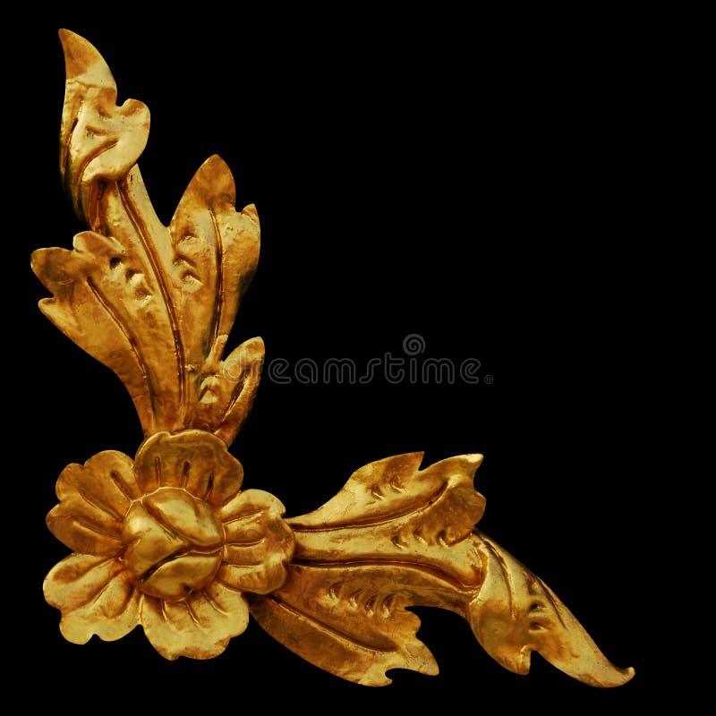 Ornament elements, vintage gold floral designs. Ornament elements, vintage gold floral royalty free stock image
