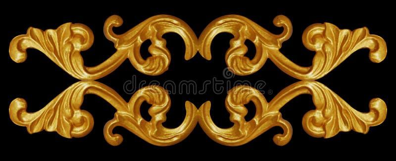 Ornament elements, vintage gold floral designs. Ornament elements, vintage gold floral royalty free stock photos