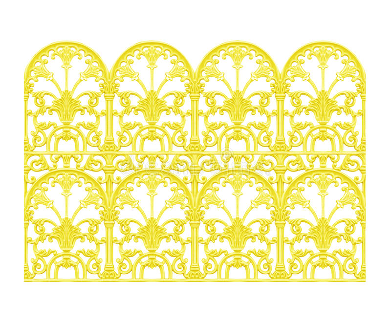 Ornament elements, vintage gold floral royalty free stock photo