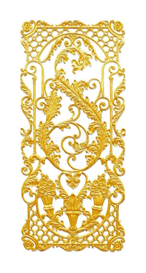 Ornament elements, vintage gold floral designs. Background royalty free stock images