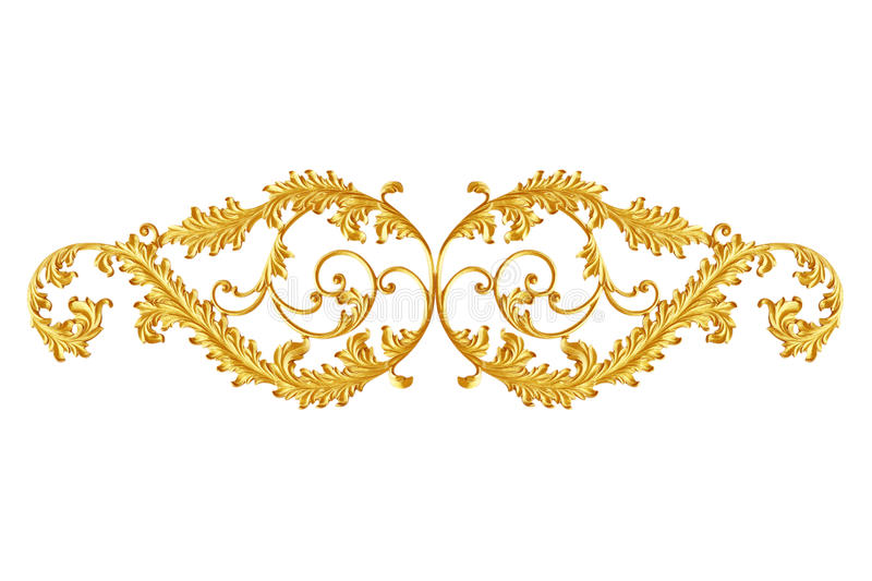 Ornament elements, vintage gold floral designs royalty free stock photography
