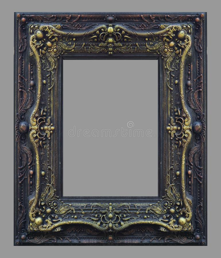 Ornament elements, vintage gold frame floral. Designs stock image