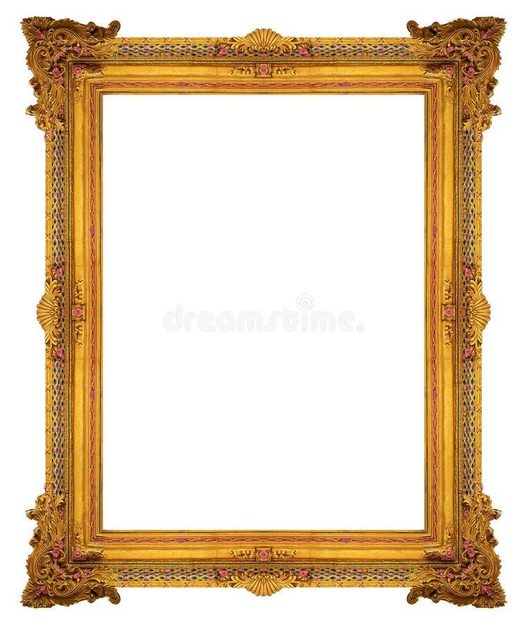 Ornament elements, vintage gold frame floral designs. Ornament elements, vintage gold frame floral stock photos