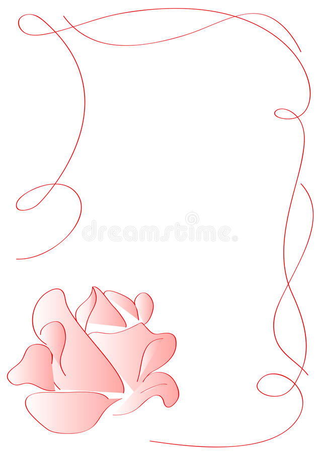 Download Ornament Frame With Pink Rose Stock Photos - Image: 18423273
