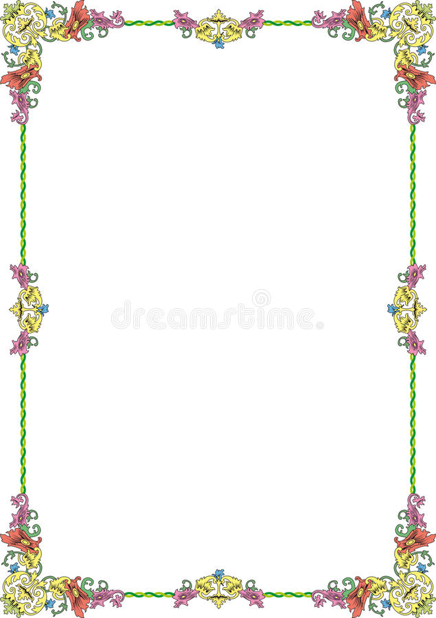 Download Ornament frame1 pastel stock photo. Image of color, leaves - 29129884