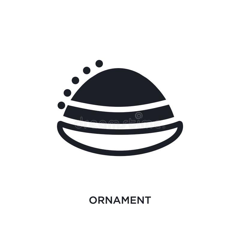 ornament geïsoleerd pictogram eenvoudige elementenillustratie van het conceptenpictogrammen van India en van holi ontwerp van het vector illustratie