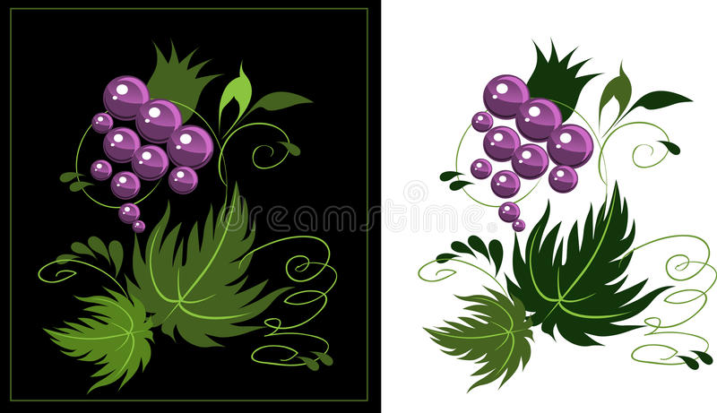 Ornament from grapes. stock image