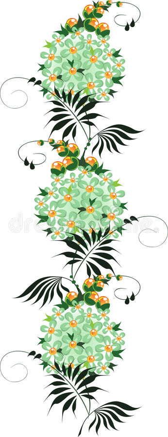Ornament from green Flower royalty free stock photos