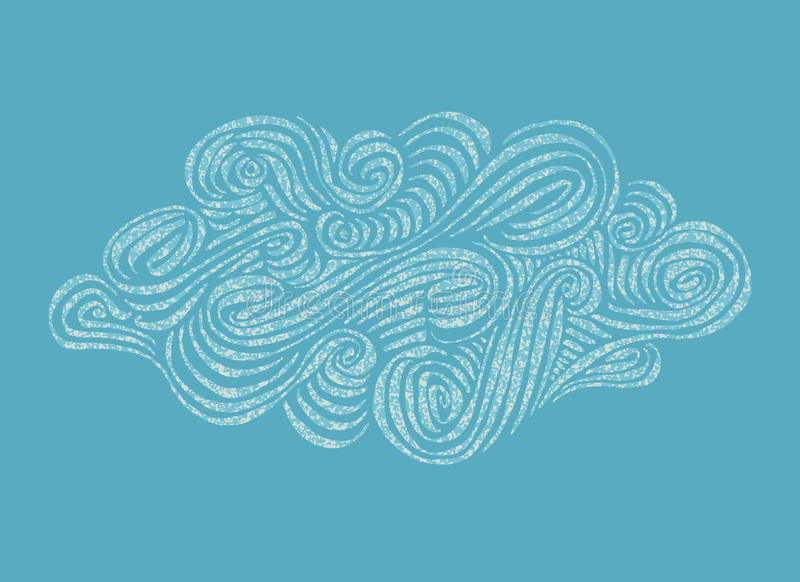 Ornament hand-drawn Cloud illustratio royalty free stock photo