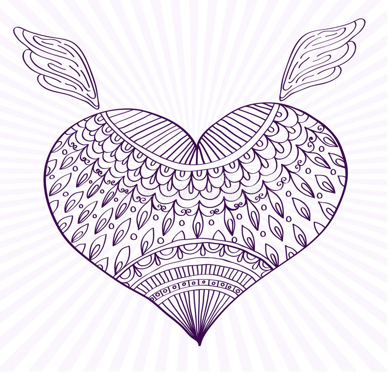 Download Ornament Line Heart Shape For Your Design Stock Vector - Image: 26998804