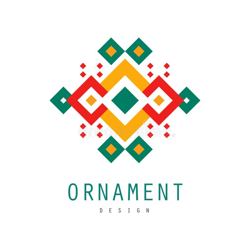 Download Ornament Logo Design Ornate Pattern With Geometric Shapes Decorative Abstract Badge Colorful