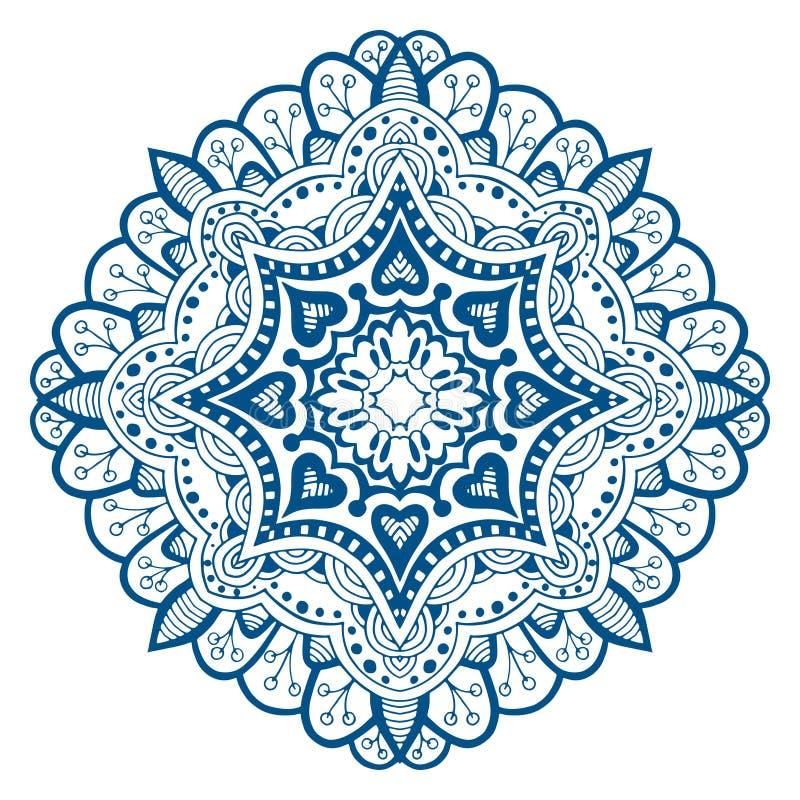 Ornament mooie kaart met mandala vector illustratie