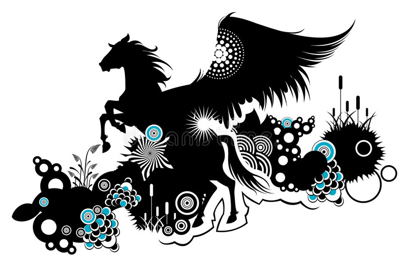 Download Ornament Pegasus Stock Image - Image: 9293291