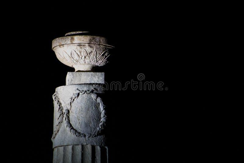 Ornament on Pillar stock photo