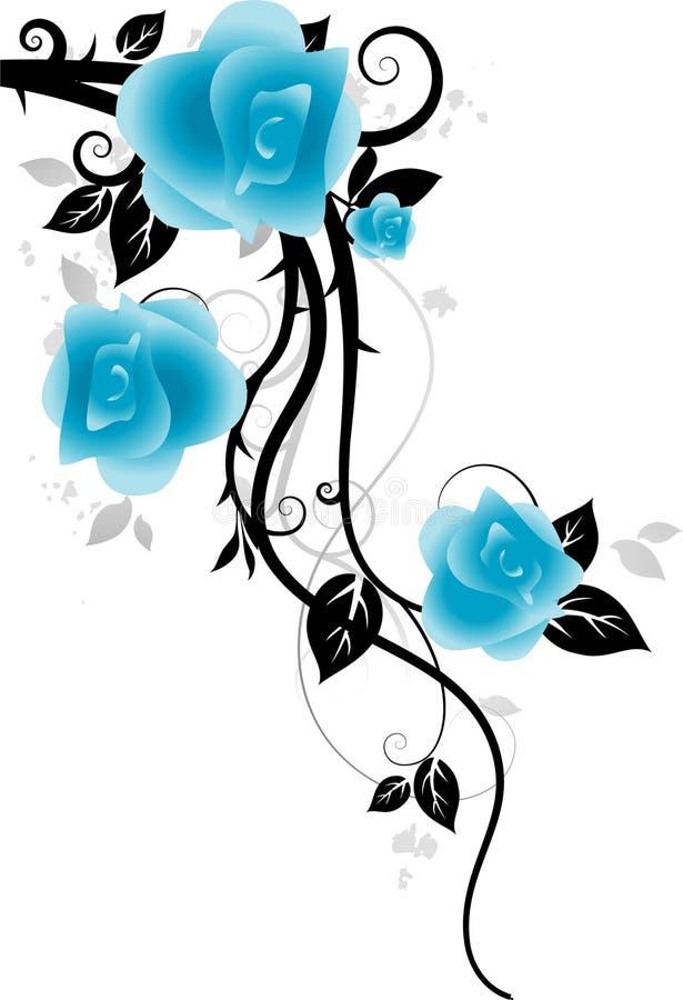 ornament róże ilustracji