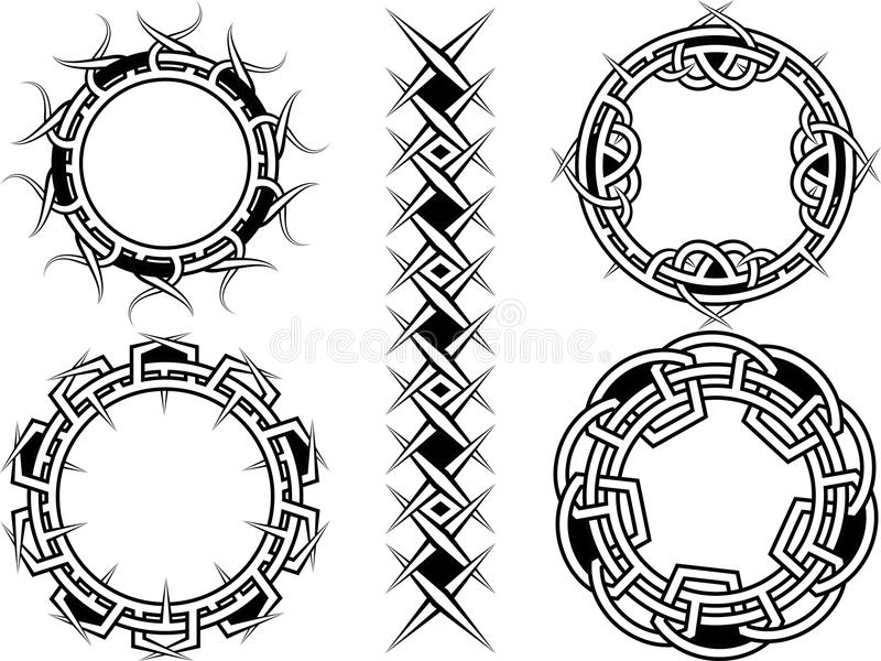 Ornament, rama i granicy, royalty ilustracja
