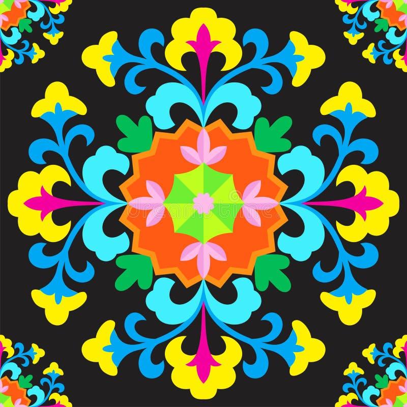 Ornament Suzani vector illustratie