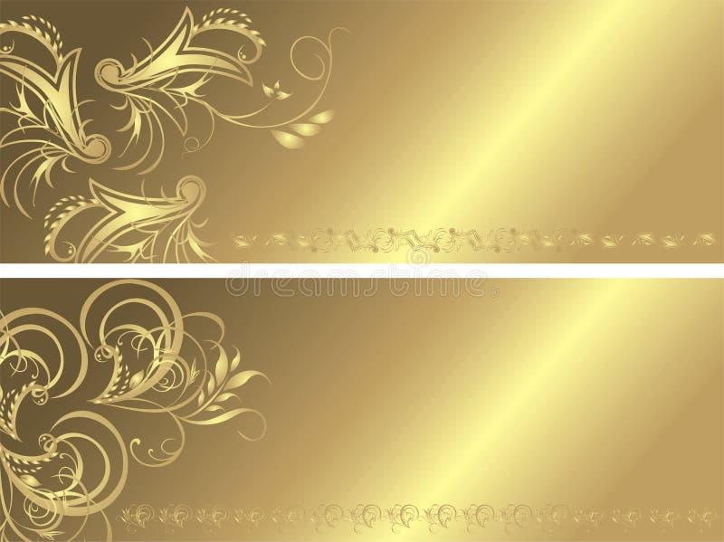 ornament sztandaru ornament dwa royalty ilustracja