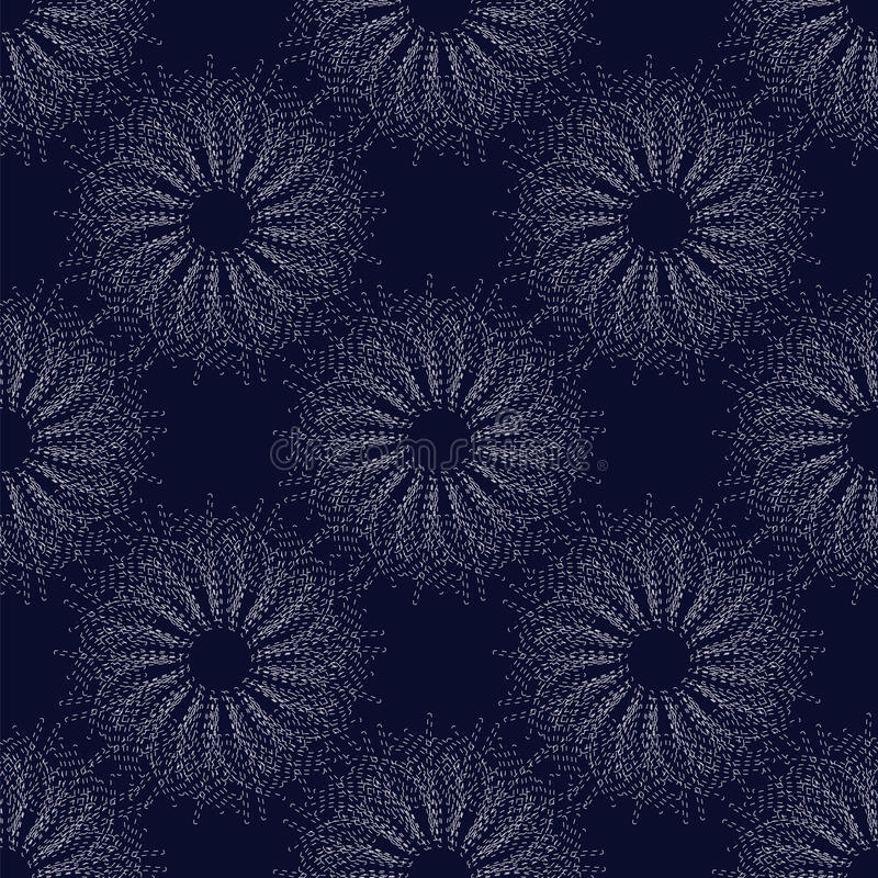 Ornament van cirkels royalty-vrije illustratie