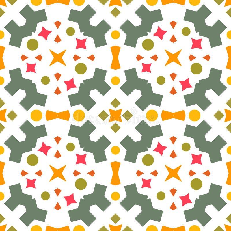 Ornament van de Ikat het geometrische folklore Naadloos gestreept patroon vector illustratie