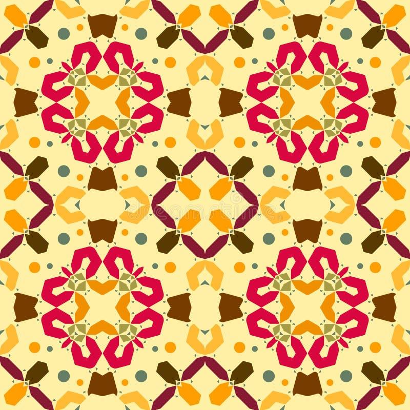 Ornament van de Ikat het geometrische folklore Stammen etnische vectortextuur royalty-vrije illustratie
