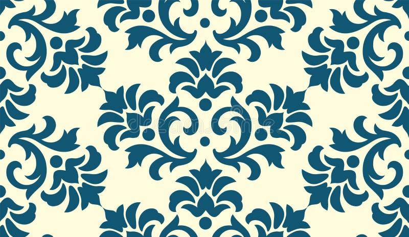 Ornament van het luxe het ouderwetse damast, koninklijke klassieke naadloze textuur voor behang, textiel, het verpakken Uitsteken stock illustratie