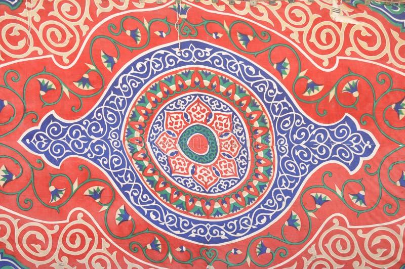 Ornament van oud tapijt royalty-vrije stock foto
