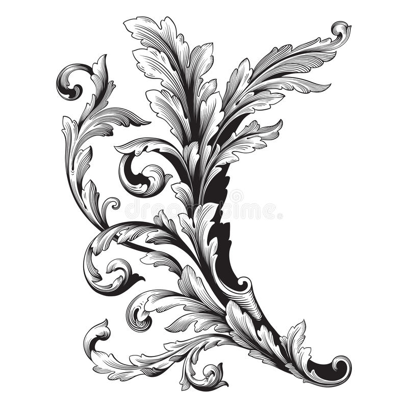 Ornament vector baroque stock illustration