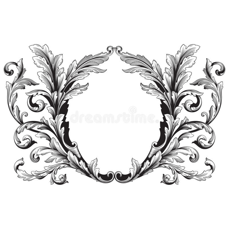 Ornament vector baroque vector illustration