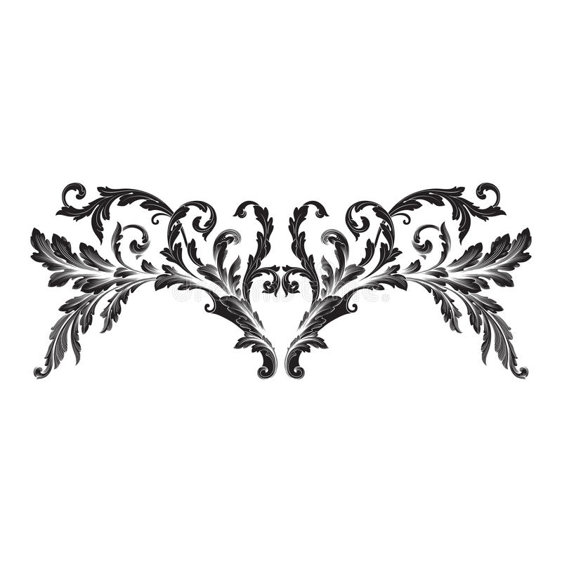Ornament vector baroque royalty free illustration