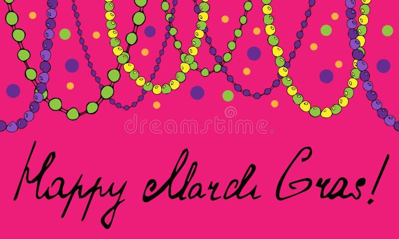 Banner of beads garland. Vector illustration vector illustration