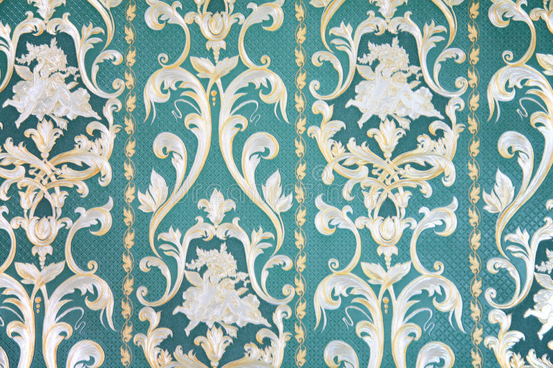 Ornament on wallpaper. Close-up of ornament on wallpaper royalty free stock images