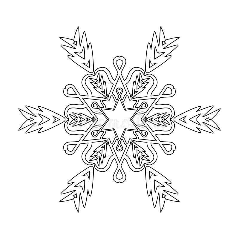 Ornament zwarte witte kaart met mandala vector illustratie
