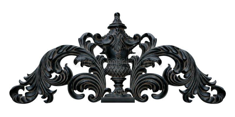 Ornamentacyjna Ścienna korony dekoracja zdjęcie royalty free