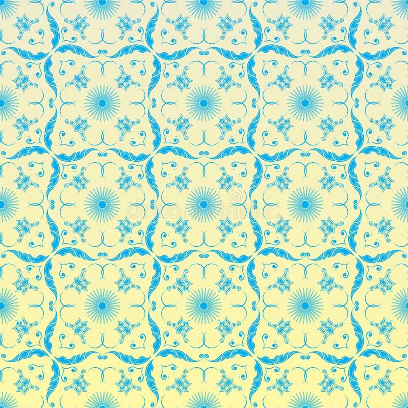 ornamentacyjna bezszwowa tapeta ilustracja wektor