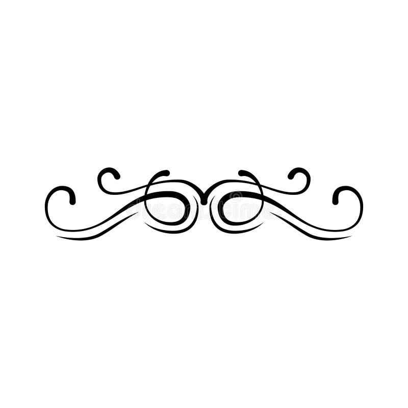 Ornamentacyjna granica, rozkwita swirly ramowego Rocznik strony dekoracyjny divider wektor ilustracja wektor