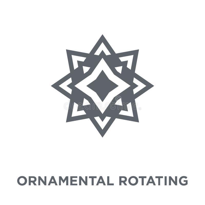 Ornamentacyjna płodozmienna poligonalna ikona od geometrii kolekcji ilustracji