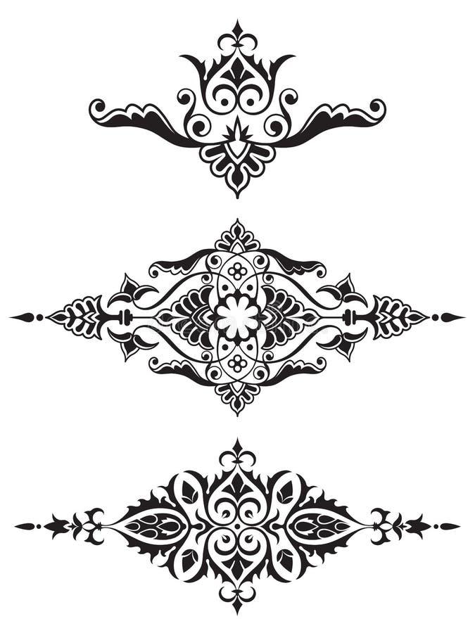Ornamentacyjna projekta elementu kolekcja royalty ilustracja