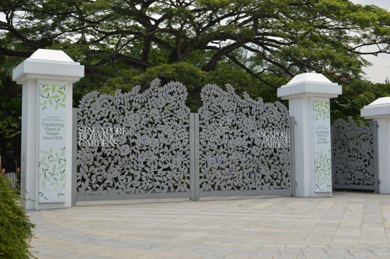 Ornamentacyjne bramy przy Singapur ogródami botanicznymi fotografia royalty free