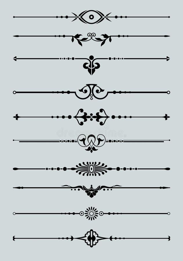 Ornamentacyjne wektor linie ilustracji