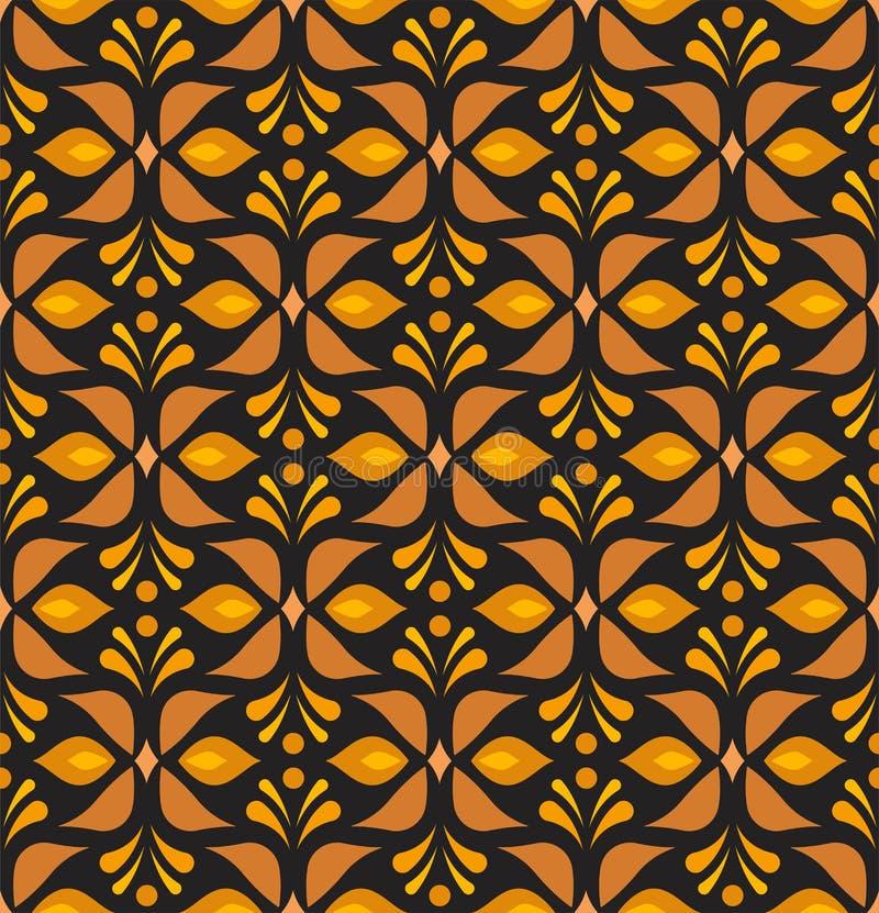 Ornamentacyjnego kwiatu wiktoriański bezszwowy wzór Wektorowa kwiecista abstrakcjonistyczna tekstura ilustracji