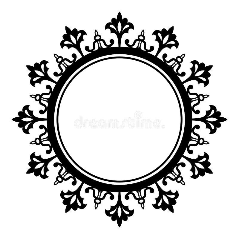 Ornamentacyjny abstrakcjonistyczny kółkowy projekta element royalty ilustracja
