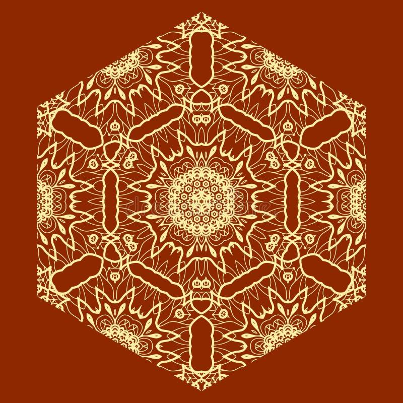Ornamentacyjny Arabski druk na Czerwonym tle ilustracji