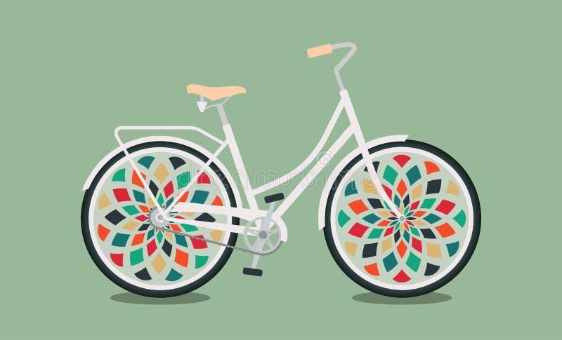 Ornamentacyjny bicykl royalty ilustracja