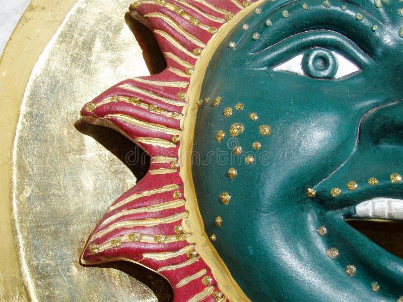 Ornamentacyjny Ceramiczny Słońce zdjęcie stock