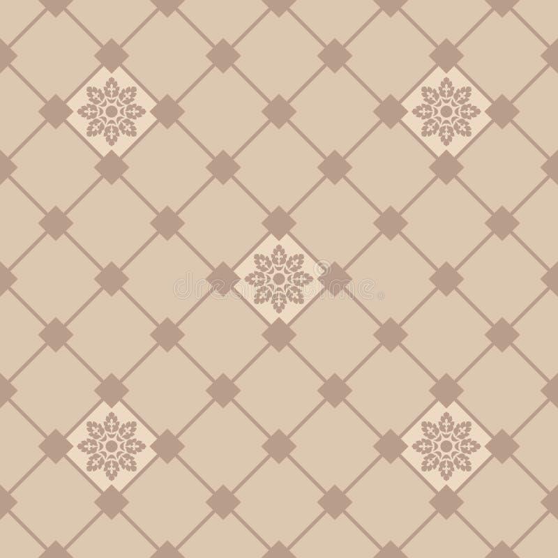 Ornamentacyjny dachówkowy tło w włoszczyzna stylu Ceramiczna płytka ilustracja wektor