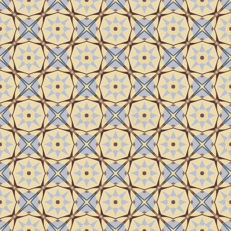 Ornamentacyjny geometryczny bezszwowy wzór Wektorowa abstrakcjonistyczna tło tekstura Męscy colours royalty ilustracja