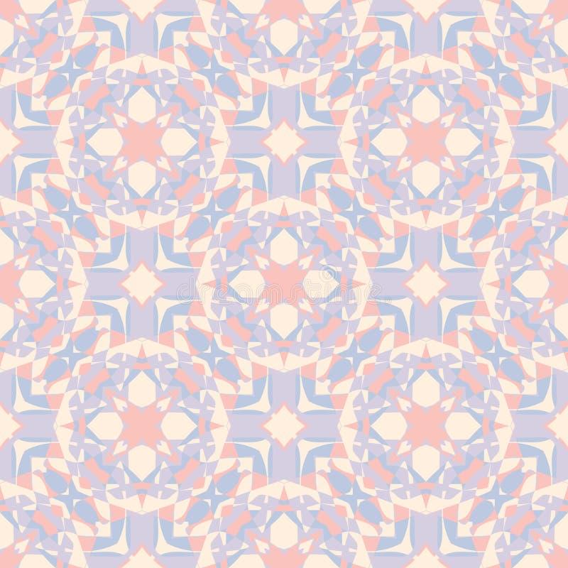 Ornamentacyjny geometryczny bezszwowy wzór Wektorowa abstrakcjonistyczna tło tekstura styl retro ilustracja wektor